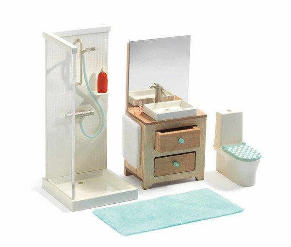 Curolletes - Cuarto de baño moderno para casa de muñecas